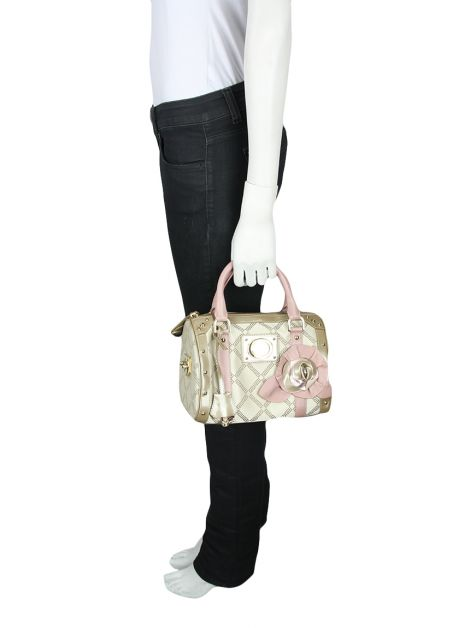 Bolsa Versace Madonna Bege e Rosa