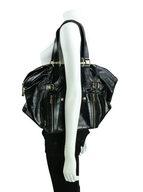 Bolsa Yves Saint Laurent Downtown Verniz