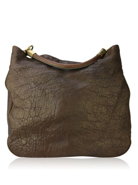 Bolsa Yves Saint Laurent Roady Hobo Marrom