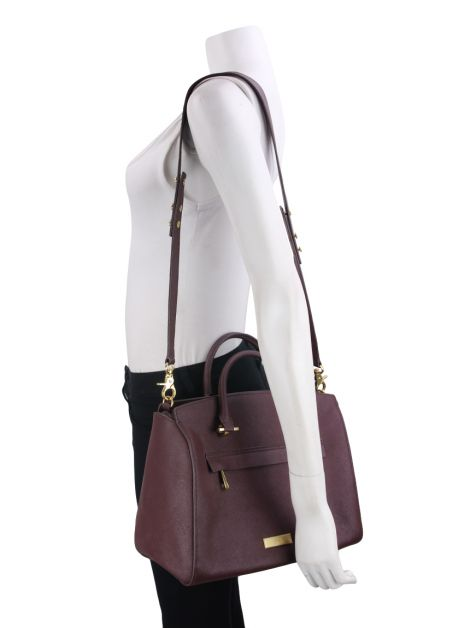 Bolsa Zac Posen Eartha Saffiano Leather Barrel Satchel