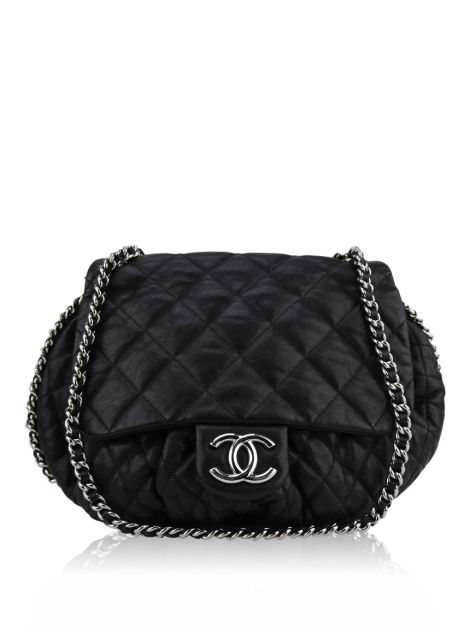 Bolsa Chanel Chain Around Preta
