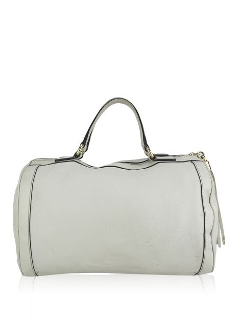 Bolsa Gucci Boston Soho Couro Off White