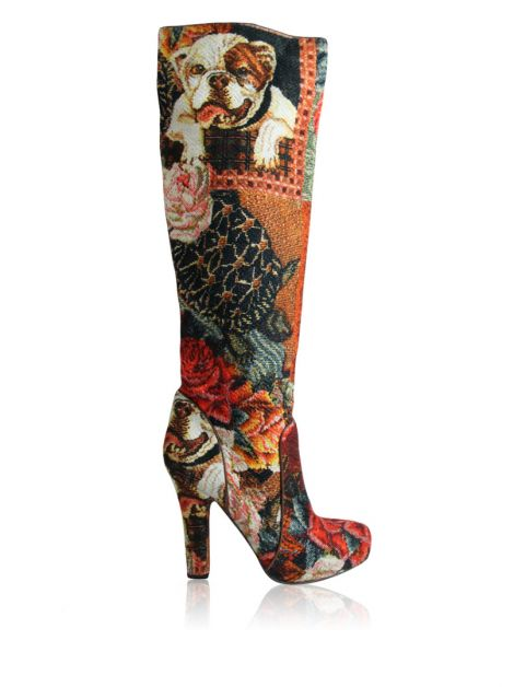 Bota Dolce & Gabbana Over The Knee Estampada