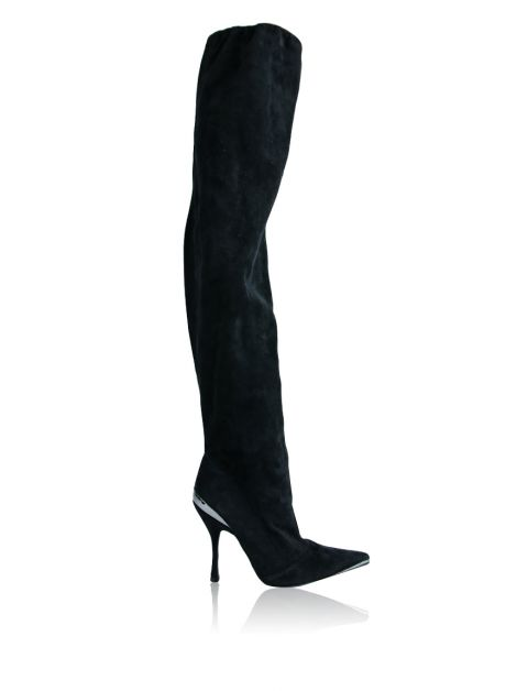 Bota Dolce & Gabbana Over The Knee Preta
