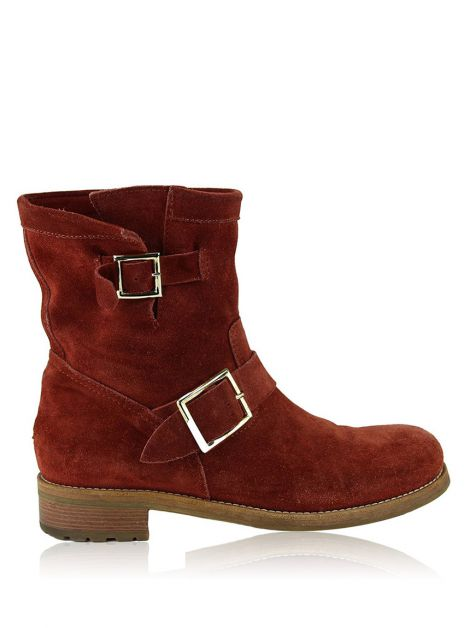 Bota Jimmy Choo Youth Camurça Terracota