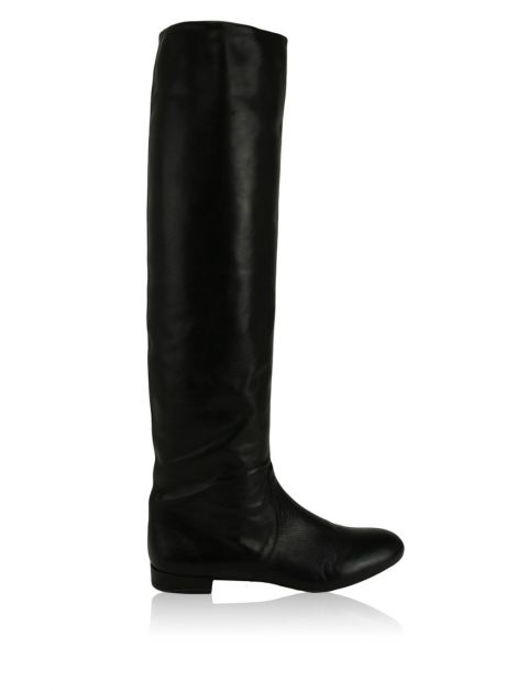 Bota Prada Over The Knee Preta
