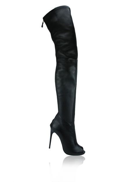 Bota Tom Ford Over The Knee Couro Preto
