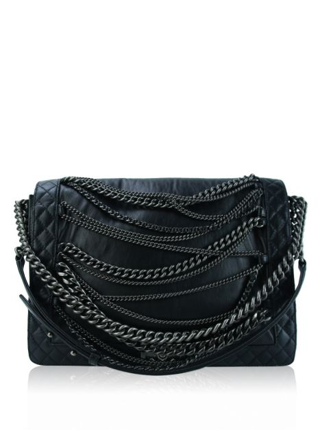 Bolsa Chanel Boy Bag Enchained XL Preta