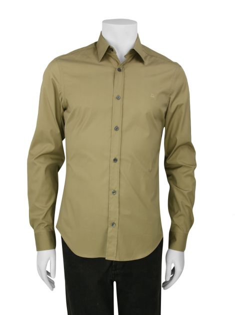 Camisa Burberry Bege Masculina
