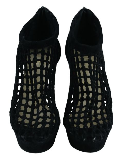 Ankle Boot Christian Louboutin Caged Bootie Preta