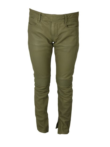 Calça All Saints Biker Verde Militar