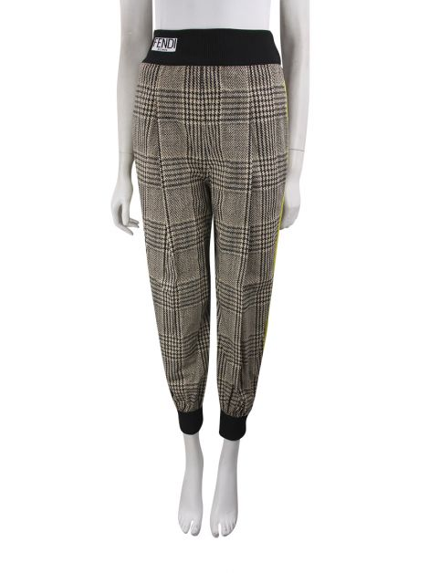 Calça Fendi Plaid Tapered Trousers Estampada