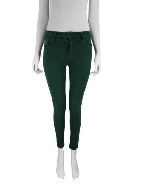 Calça Mixed Denim Verde