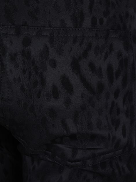 Calça Mixed Leopardo Preto