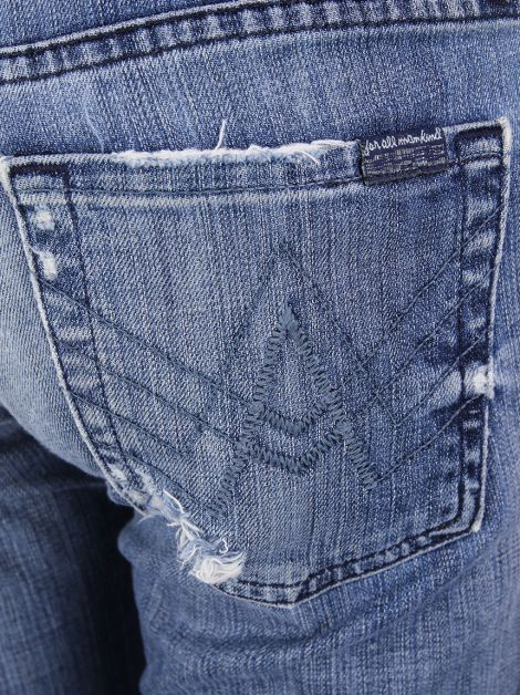 Calça Seven For All Mankind A Pocket Destroyed