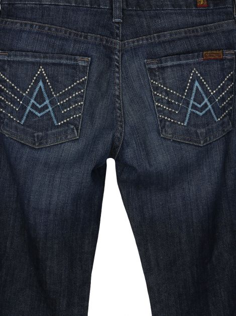 Calça Seven For All Mankind A Pocket Jeans Escura