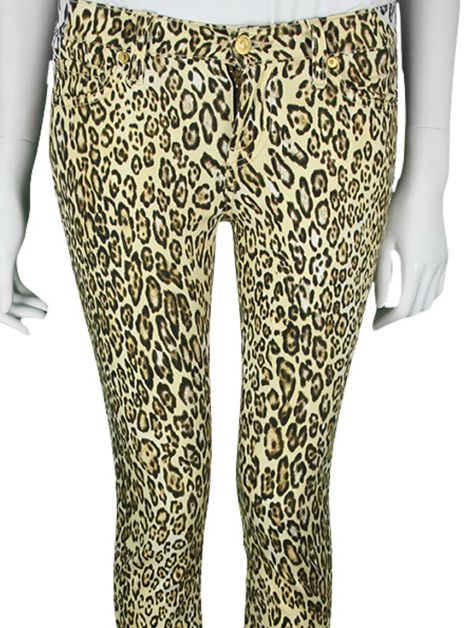 Calça Seven For All Mankind Animal Print Leopardo