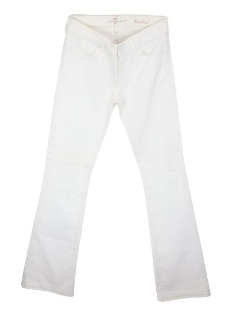 Calça Seven For All Mankind Bootcut Off-White