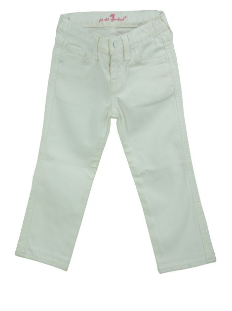 Calça Seven For All Mankind Jeans Branca Infantil