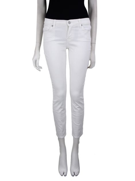 Calça Seven For All Mankind Jeans Skinny Crop And Roll