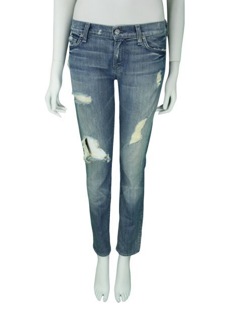 Calça Seven For All Mankind Roxanne Jeans Azul
