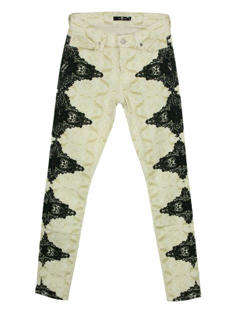 Calça Seven For All Mankind Lace Skinny