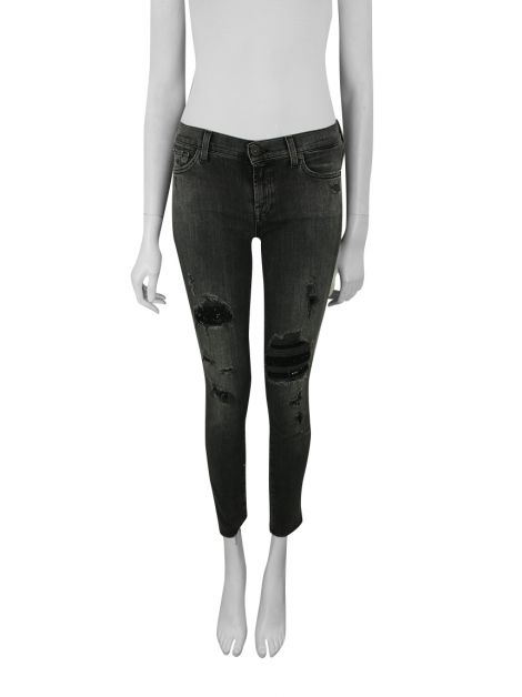 Calça Seven For All Mankind Skinny Cinza
