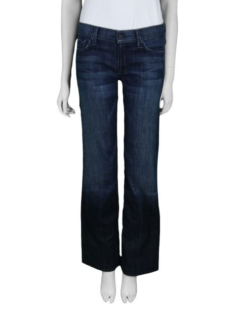 Calça Seven For All Mankind Super Flare Jeans Escuro