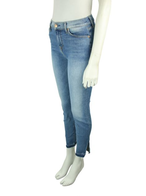 Calça Seven For All Mankind The High Waist Ankle Skinny Jeans