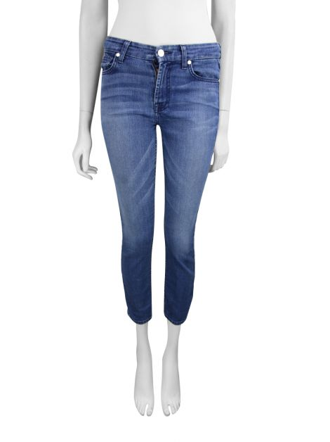 Calça Seven For All Mankind The Mid Rise Cropped Skinny Jeans