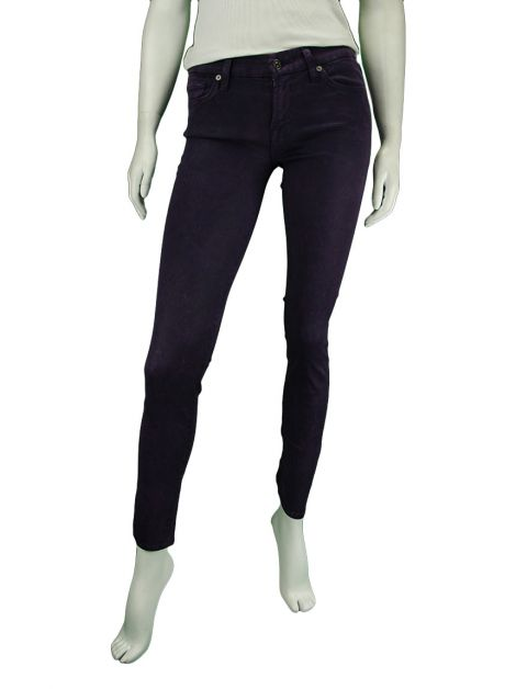 Calça Seven For All Mankind The Skinny Roxa