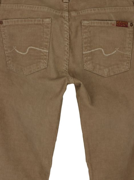 Calça Seven For All Mankind Veludo Bege