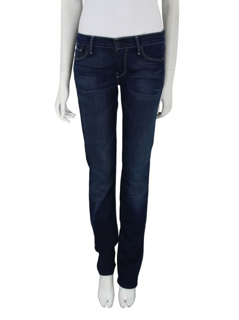 Calça Seven For All Mankind Straight Leg Azul