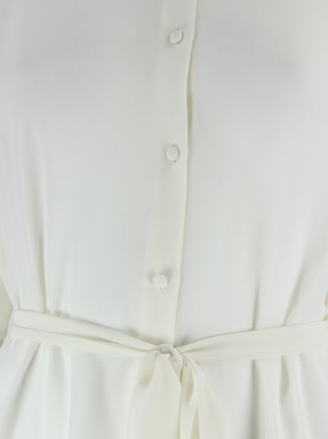 Camisa Acne Transparente Off White