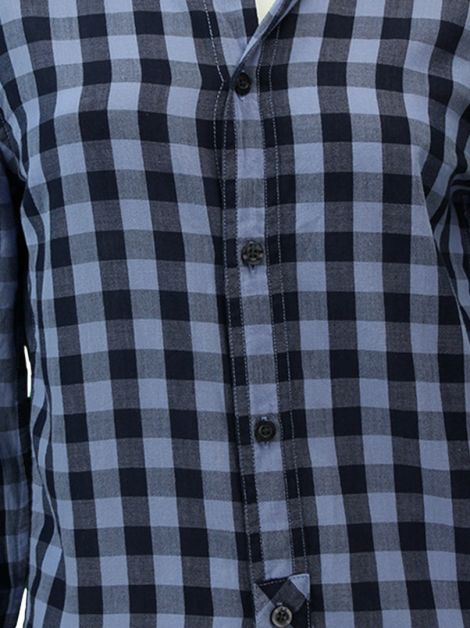 Camisa Armani Exchange Slim Fit Xadrez