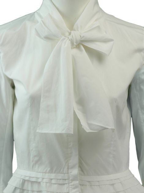 Camisa Carolina Herrera Off-White Babado