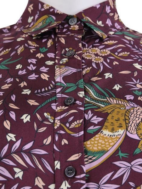 Camisa Drake's London for J.Crew Seda Estampada