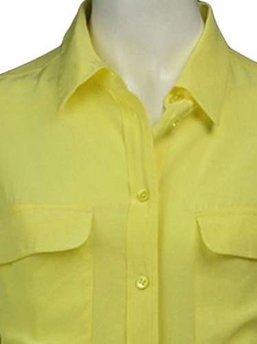 Camisa Equipment Seda Amarelo