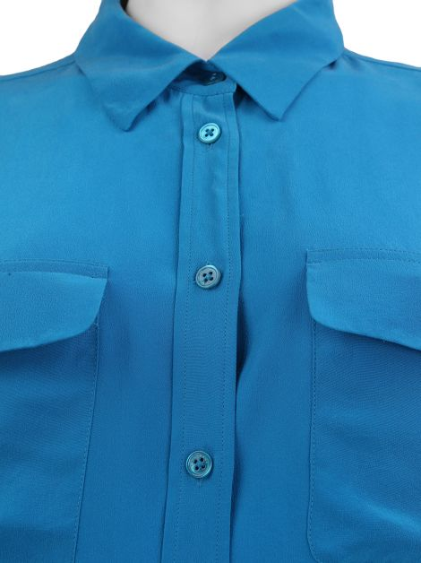 Camisa Equipment Seda Azul