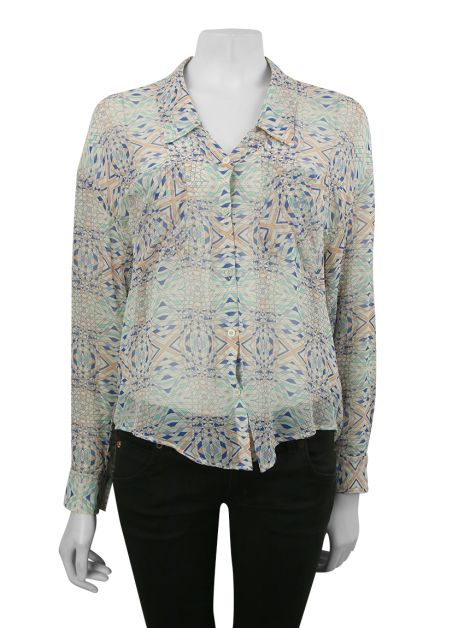 Camisa Free People Tecido Estampado