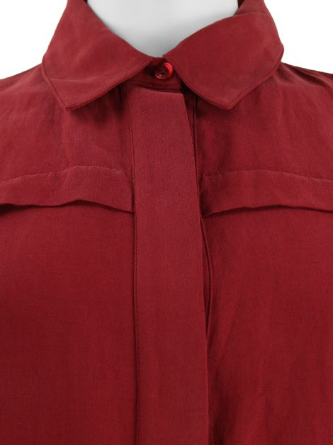 Camisa Mixed Tecido Burgundy