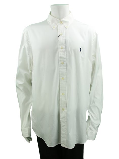 Camisa Polo By Ralph Lauren Custom Fit Branca Masculina