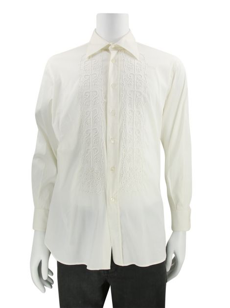 Camisa Prada Off White Bordada