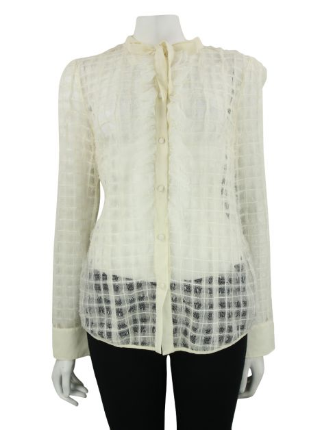 Camisa Red Valentino Tule Off-White