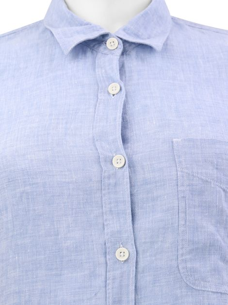 Camisa Seven For All Mankind Linho Azul