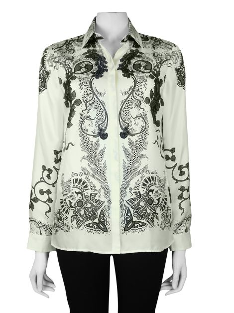 Camisa Versace Collection Seda Estampada