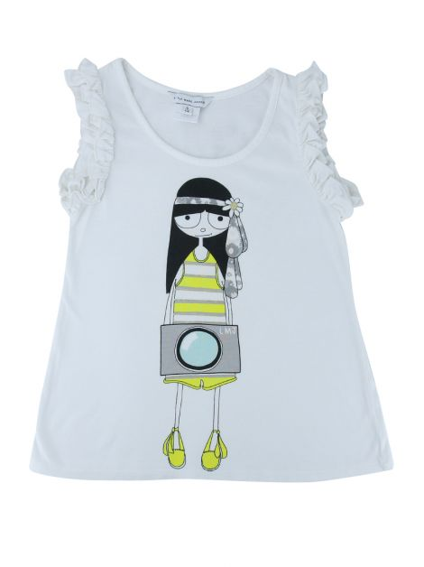 Camiseta Little Marc Jacobs Estampa Branca Infantil