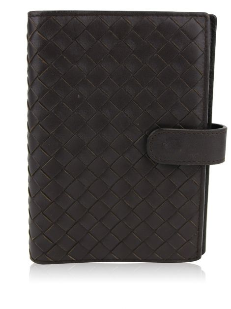 Capa Agenda Bottega Veneta Intrecciato Mini Marrom