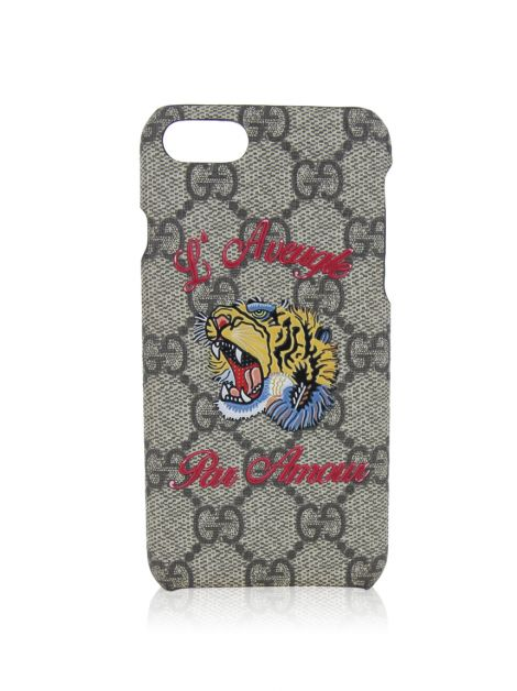 Capa Iphone 7 Gucci Tiger Monograma