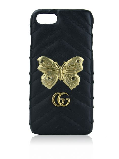 Capa para iPhone Gucci GG Marmont Moth Stud 7